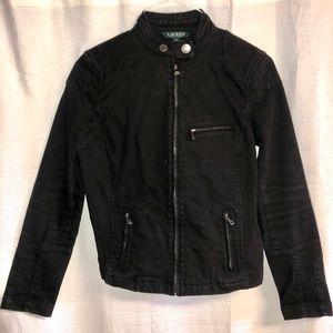 Ralph Lauren denim moto jacket